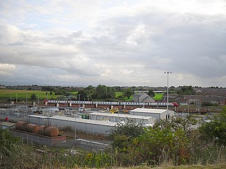 Carlisle Upperby TMD - A view across Upperby rail depot