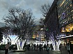 View in front of Hakata Station at dusk 20181213-1.jpg