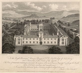 University of Wales, Lampeter - View of St. David's College c.1835