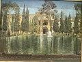 View of a pavilion from Gulistan Palace - Iran, Tehran - 1884-1885 - Muhammad Ghaffari Kamal al-Mulk - Gulistan Palace - 8630.jpg
