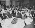 View of table at the dinner honoring President Truman and Vice President Alben Barkley at the Mayflower Hotel in... - NARA - 200011.tif