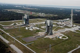 Cape Canaveral Air Force Station Space Launch Complex 17 - LC-17 showing pads A and B in 2007