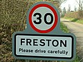 Village Name And Speed Sign - geograph.org.uk - 384086.jpg