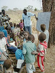 Students in rural Sudan, 2002