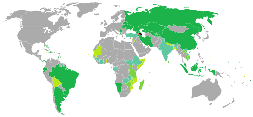 Visa requirements for Armenian citizens - Wikipedia
