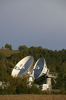 Picture of the parabolic antennas of Vizada's Aussaguel Land Station