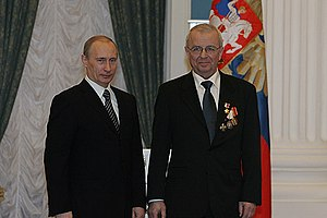 Anatoly Sagalevich - Anatoly Sagalevich (right) with president Vladimir Putin, 2008
