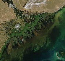 Delta volga di laut kaspia barat laut