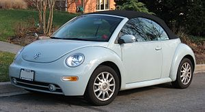 Volkswagen New Beetle convertible photographed...