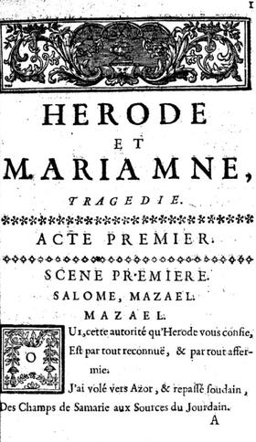 Herode Et Mariamne Wikipedia