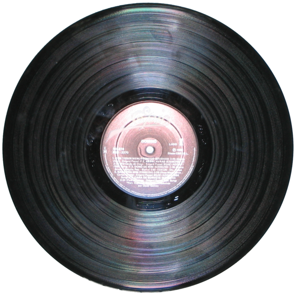 A typical LP, showing its center label