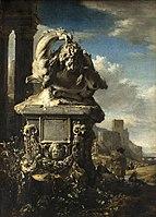 WEENIX Jan 1665 Groupe sculpté dans un paysage italien.jpg
