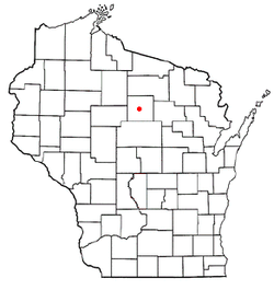 Location of Rock Falls, Wisconsin