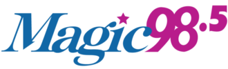 "WOMG - WOMG's former ""Magic 98.5"" logo used from 2008 to 2014"