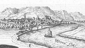 Wanfried - Wanfried – extract from the Topographia Hassiae by Matthäus Merian 1655