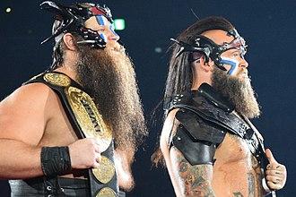 Hanson (wrestler) - Hanson and Raymond Rowe as the IWGP Tag Team Champions