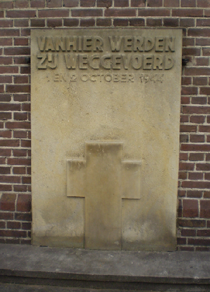 Putten - War memorial at the church of Putten.