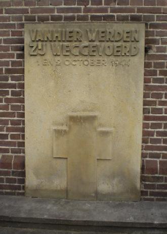 Putten raid - Commemorative stone at the Oude Kerk in Putten