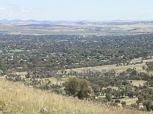 Waramanga, Australian Capital Territory - Waramanga, looking northwest from Mount Taylor