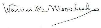 Warren K. Moorehead - Image: Warren K. Moorehead signature