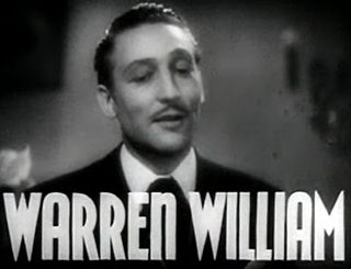 Warren William Broadway and Hollywood actor