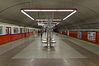 metro station in Warsaw, Poland