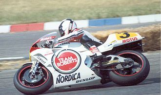 Wayne Rainey - Wayne Rainey on the Yamaha YZR500