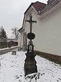 Wayside cross in Okříšky, Třebíč District.JPG