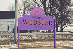 Webster, Iowa.