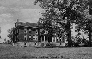 Welch Hall (Missouri) - photo of the Welch Military Academy building that was destroyed by fire in October 1907
