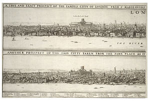 Thomas Farriner - Wenceslas Hollar - London before and after the fire.