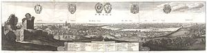 Wenceslaus Hollar - Panorama of Prague in 1636.