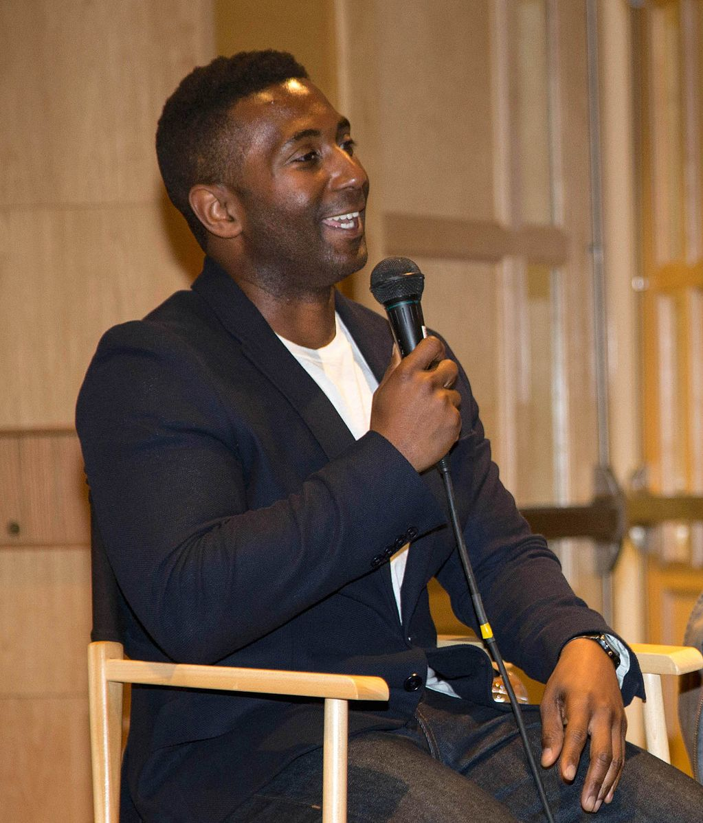 """Wesley Morris during a 2013 panel discussion on the topic of """"Race and Film"""", during the Montclair Film Festival"""