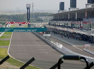 2014 Japanese Grand Prix - The start/finish straight of Suzuka Circuit