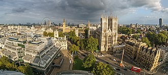 Westminster - Image: Westminster from the dome on Methodist Central Hall