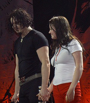 Meg White - Meg White (right) after a performance in Sydney, 2006.