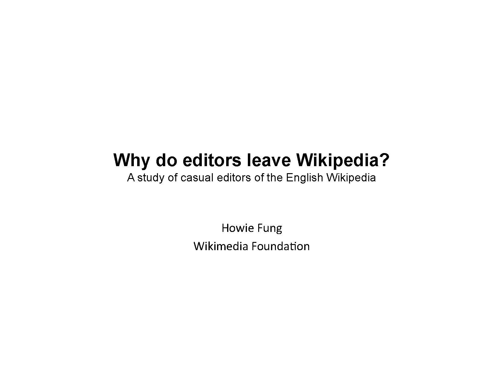 Why Do Editors Leave Wikipedia.pdf