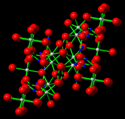 Widgiemoolthalite possible crystal structure based on hydromagnesite.png