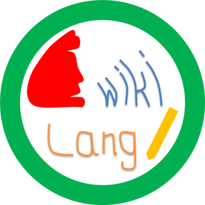 proposed logo of WikiLang.