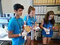 Wikimania 2016 Deryck day 2 - 03 volunteers at Pensa archive.jpg