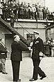 Wilhelm Wahlforss welcomes king Frederick at Wärtsilä Hietalahti Shipyard.jpg