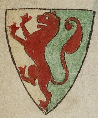 William Marshal, 1st Earl of Pembroke - 13th-century depiction by Matthew Paris of the Earl of Pembroke's coat of arms