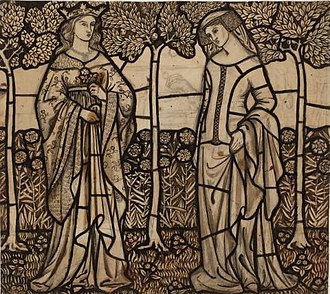 Guinevere - Guinevere and Iseult by William Morris (1862)