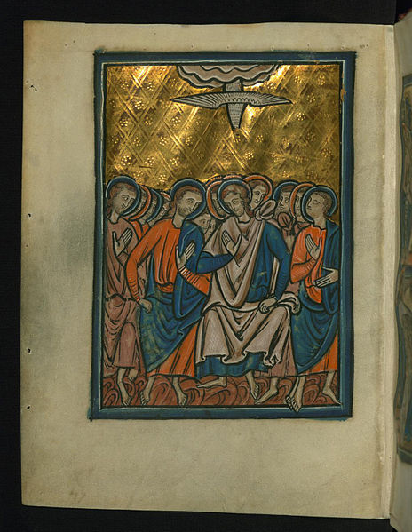 File:William de Brailes - Pentecost (Acts 2 -1-4) - Walters W10622V - Full Page.jpg