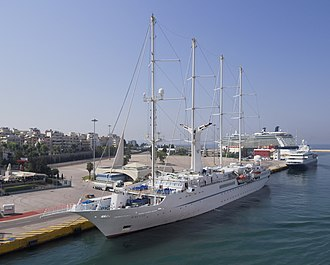 Windstar Cruises - Image: Wind Star in Piraeus 2974
