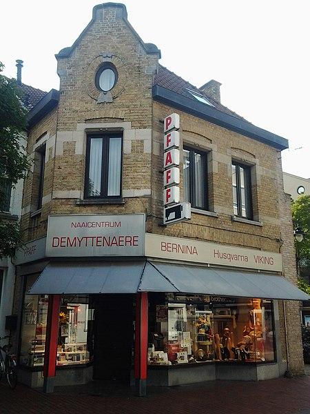 Winkelhuizen en brouwerij 1923 naar ontwerp van Van Coillie Noordstraat 105 Roeselare