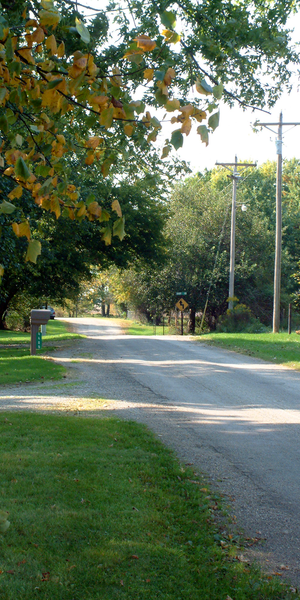 Winthrop, Indiana - Looking west into Winthrop