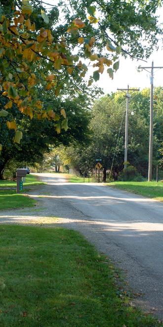 Winthrop, Indiana - Looking west into Winthrop