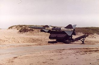 1973 raid on Egyptian missile bases - SA-2 missile on a launcher