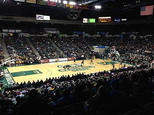 Wolstein Center - Interior view of the arena during a CSU men's basketball game in 2015
